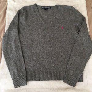 Used Ralph Lauren Sport V Neck pullover sweater
